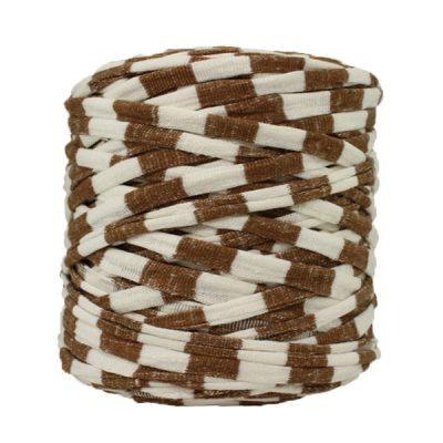 Trapilho-Bobine-rayé-marron-blanc-cassé