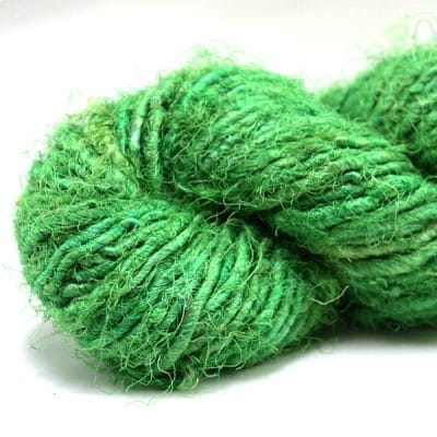 Fil de soie de sari - Vert éméraude