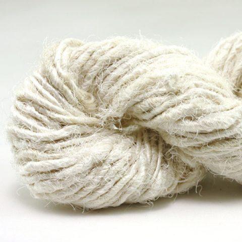 Fil de soie de sari - Blanc d'ivoire