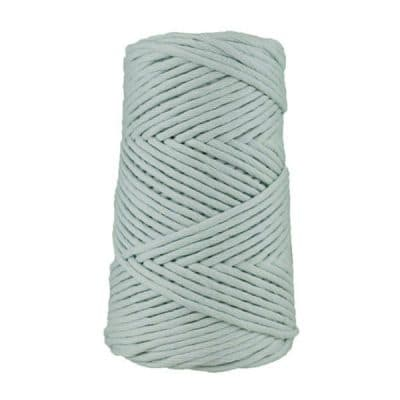 Coton peigné suprême 4 mm - Bleu dragée - Cordon macramé