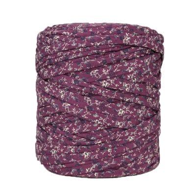 Trapilho-bobine-imprimé-fleuri-lilas