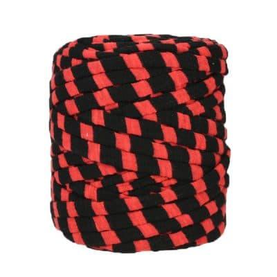 Trapilho-bobine-pelote-rayé-rouge-noir