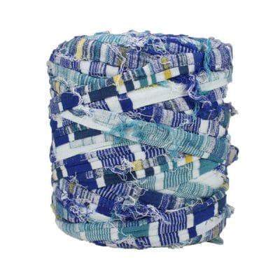 Trapilho-bobine-pelote-rayé-bleu
