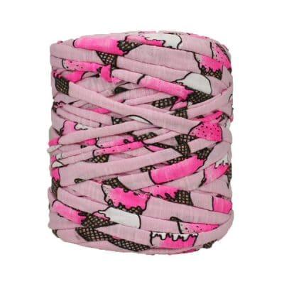 Trapilho-bobine-pelote-Imprimé-rose