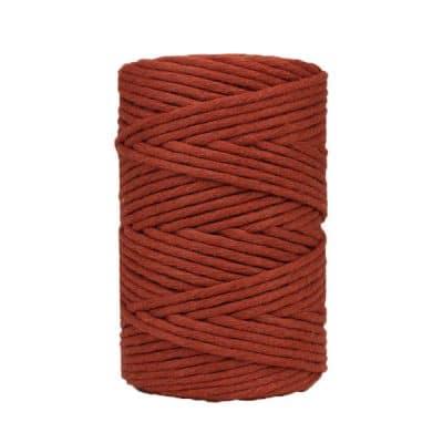 Coton-peigné-rouge-brique